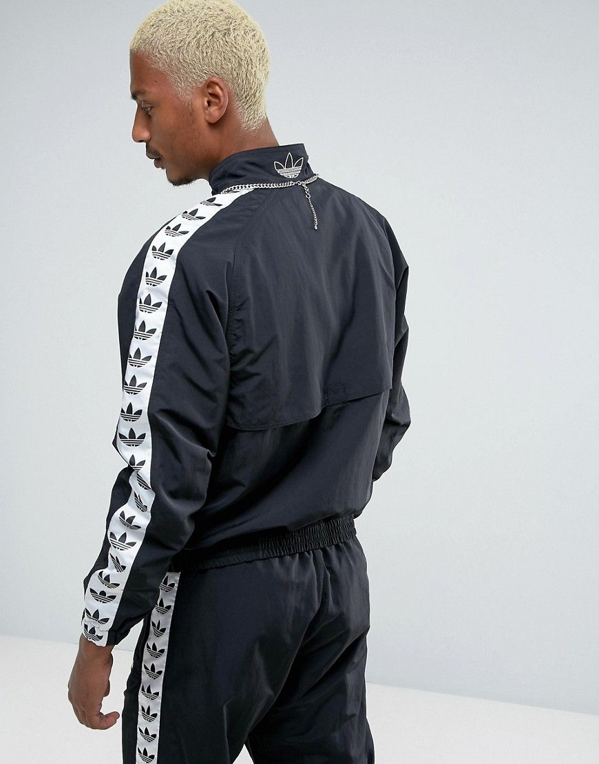 6aa26574 adidas Originals Adicolor TNT Tape Wind Track Jacket In Black BR2290 ...