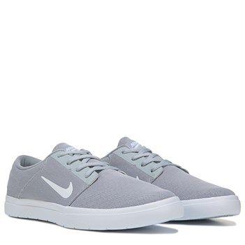 Mens Nike Nike SB Portmore Ultralight Skate Shoe Grey/Grey/White