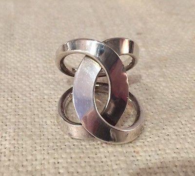 Tone Vigeland Norway Sterling Silver 925s Modernist Loop Sloyfe Ring Scandinavian Jewelry Jewelry Engagement Rings