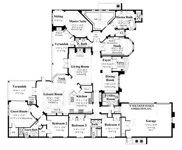 Perfect Floor Plan And No Stairs Floor Plans Aflfpw06075 1 Story Italianate Home With 5 Mediterranean House Plans Ranch House Plans House Plans One Story