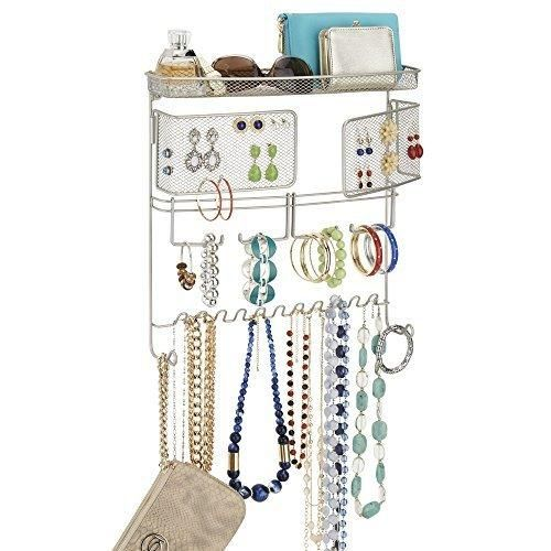 mDesign Hanging Fashion Jewelry Organizer for Rings Earrings