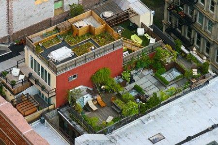 loft sur le toit avec terrasse arborée - New york | 01 PAYSAGE ...