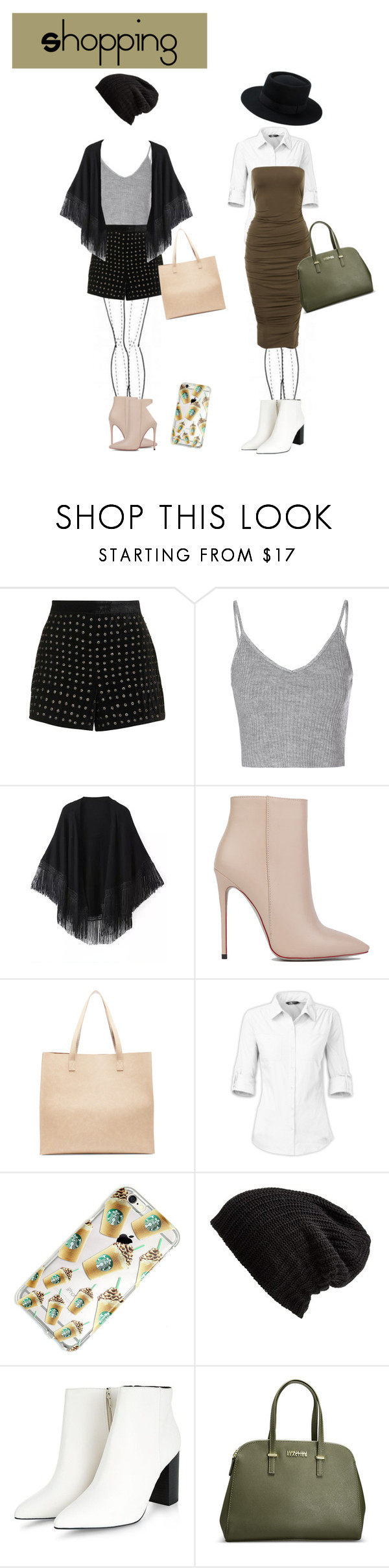 """""""Shopping"""" by vivianrose-11 on Polyvore featuring Topshop, Glamorous, Relaxfeel, Akira Black Label, Sole Society, The North Face, Free People and Avenue"""