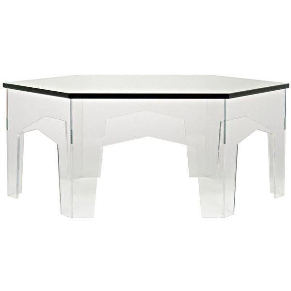 Noir Kame Acrylic Coffee Table 2016 liked on Polyvore
