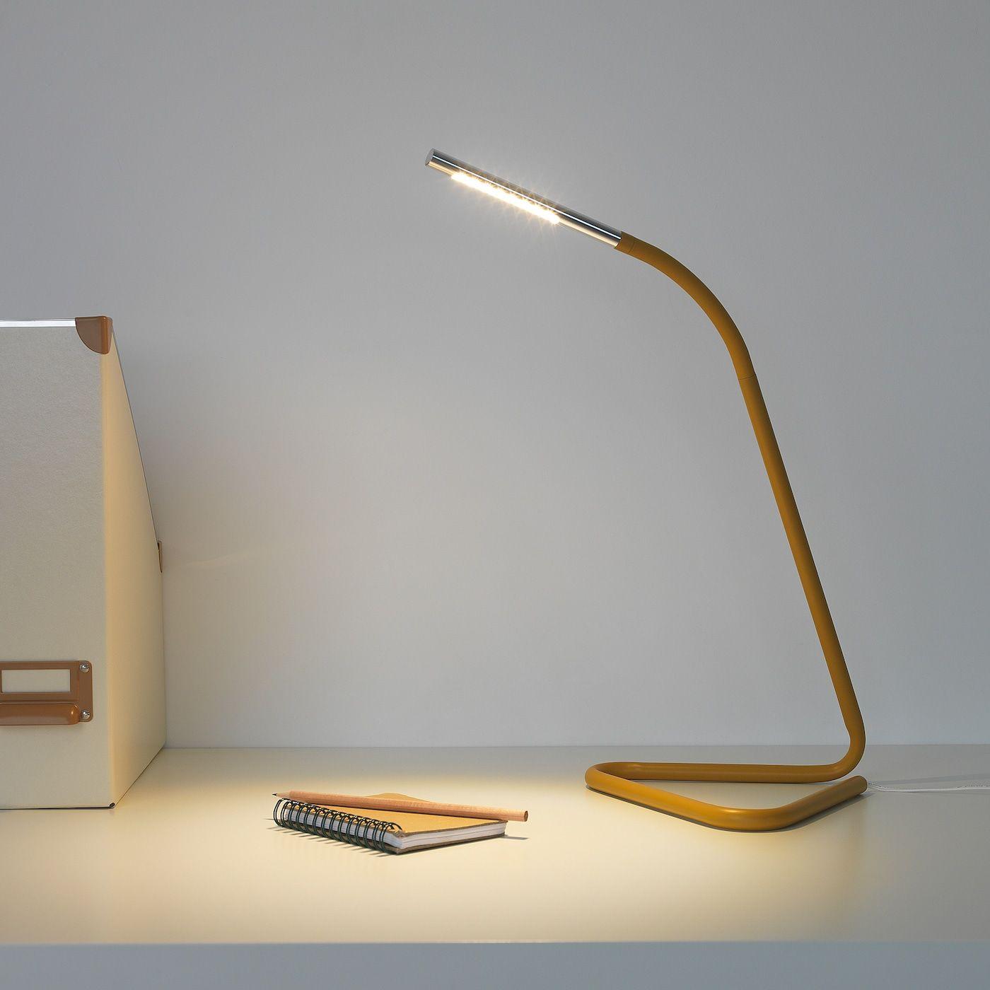 Harte Arbeitsleuchte Led Gelb Silberfarben Ikea Osterreich In 2020 Work Lamp Lamp Can Lights
