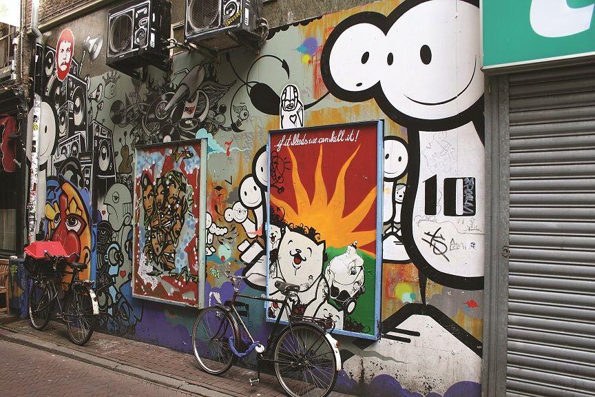 City graffiti in Amsterdam #Amsterdam #StudentFlights #GoYourOwnWay #Travel #Europe