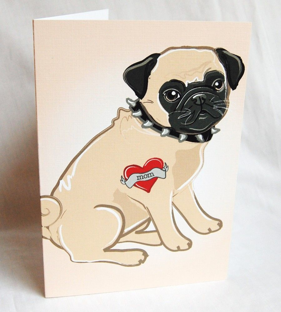 Pug cards custom pug tattoo greeting card by africangrey on etsy pug cards custom pug tattoo greeting card by africangrey on etsy m4hsunfo
