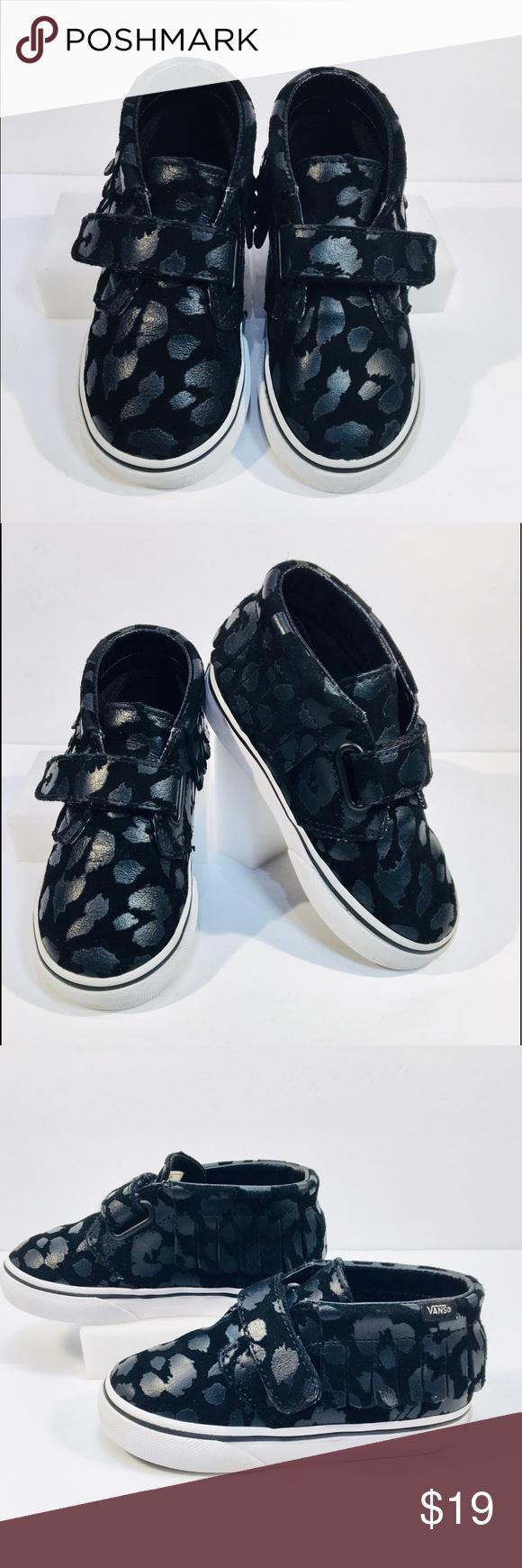 cde0968fc675f4 Vans Toddler Black Gray Sneaker Toddler Black   Metallic Gray Canvas High  Top Sneakers. Velcro Side Closure. Size 8. EUC Vans Shoes Sneakers
