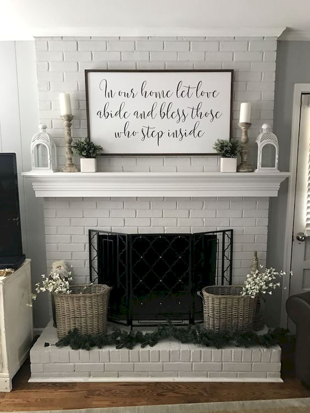 50 Beautiful Spring Mantel Decorating Ideas Fireplace Mantle Decor Farm House Living Room Home Living Room