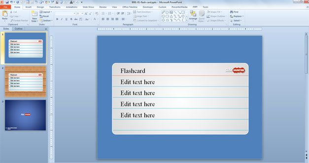 Free Flash Card PowerPoint Template Projects to Try Powerpoint