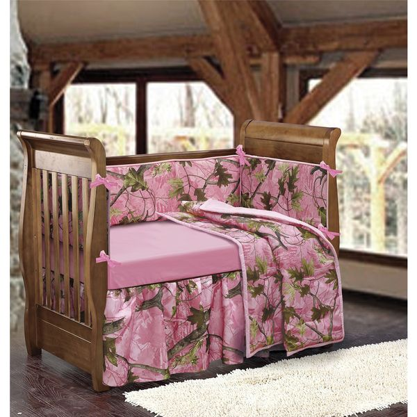Pink Camo Crib Bedding Set Girls Modern Cute Bedroom Baby Camo