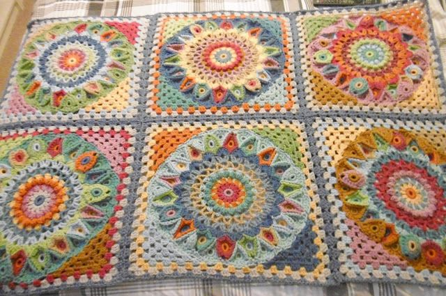 Spinning Top Blanket BORDER? (Suz Crochet Groove)   Decken, Pastell ...