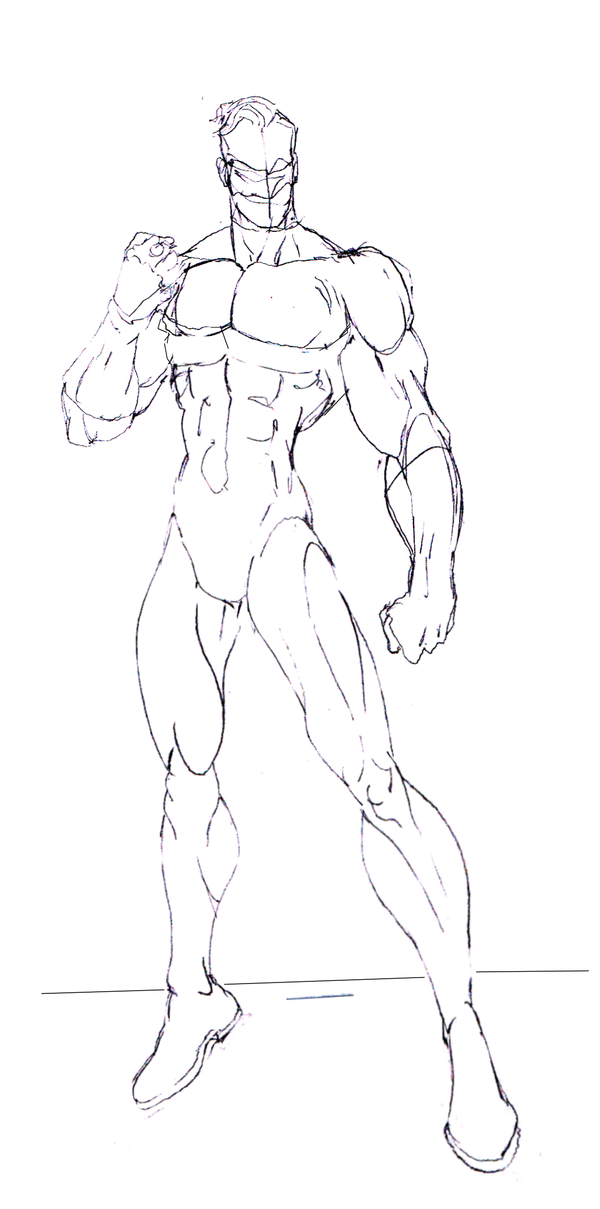 This Is The Rough Layout Of The Body For Green Lantern This Will