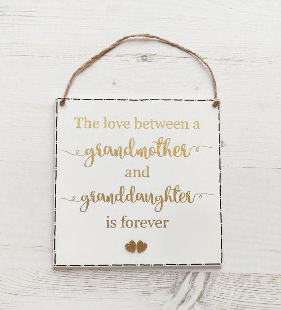Grandmother Gift Christmas For Grandma Nan Granddaughter Sign