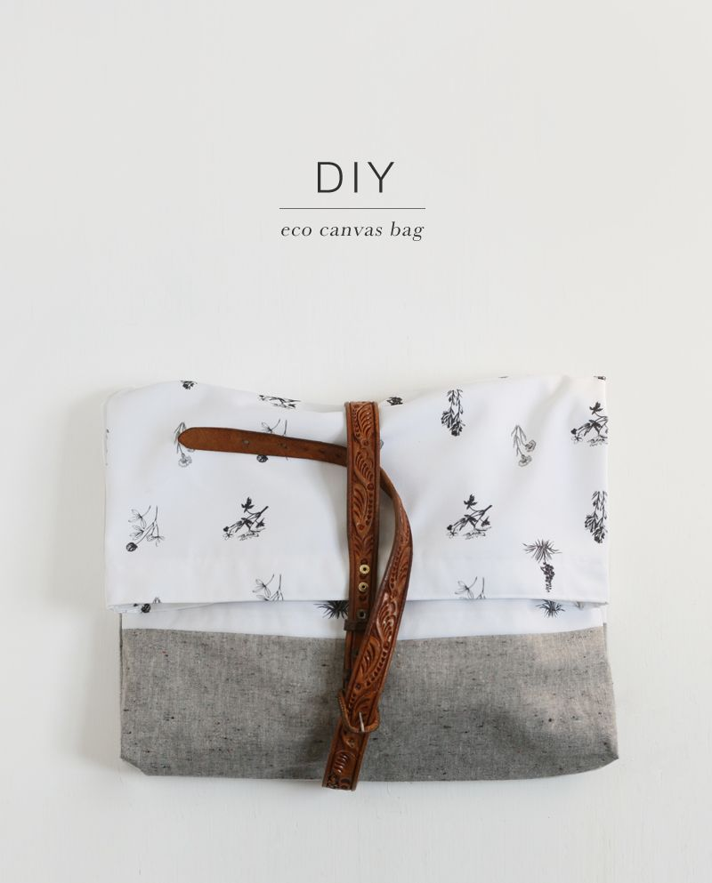 Whip Up an Eco Canvas Bag | Bags, Fabric wallpaper and Belt