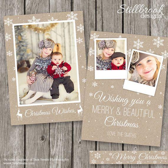 Christmas Card Templates 5 X 7 Christmas Cards Kraft Christmas