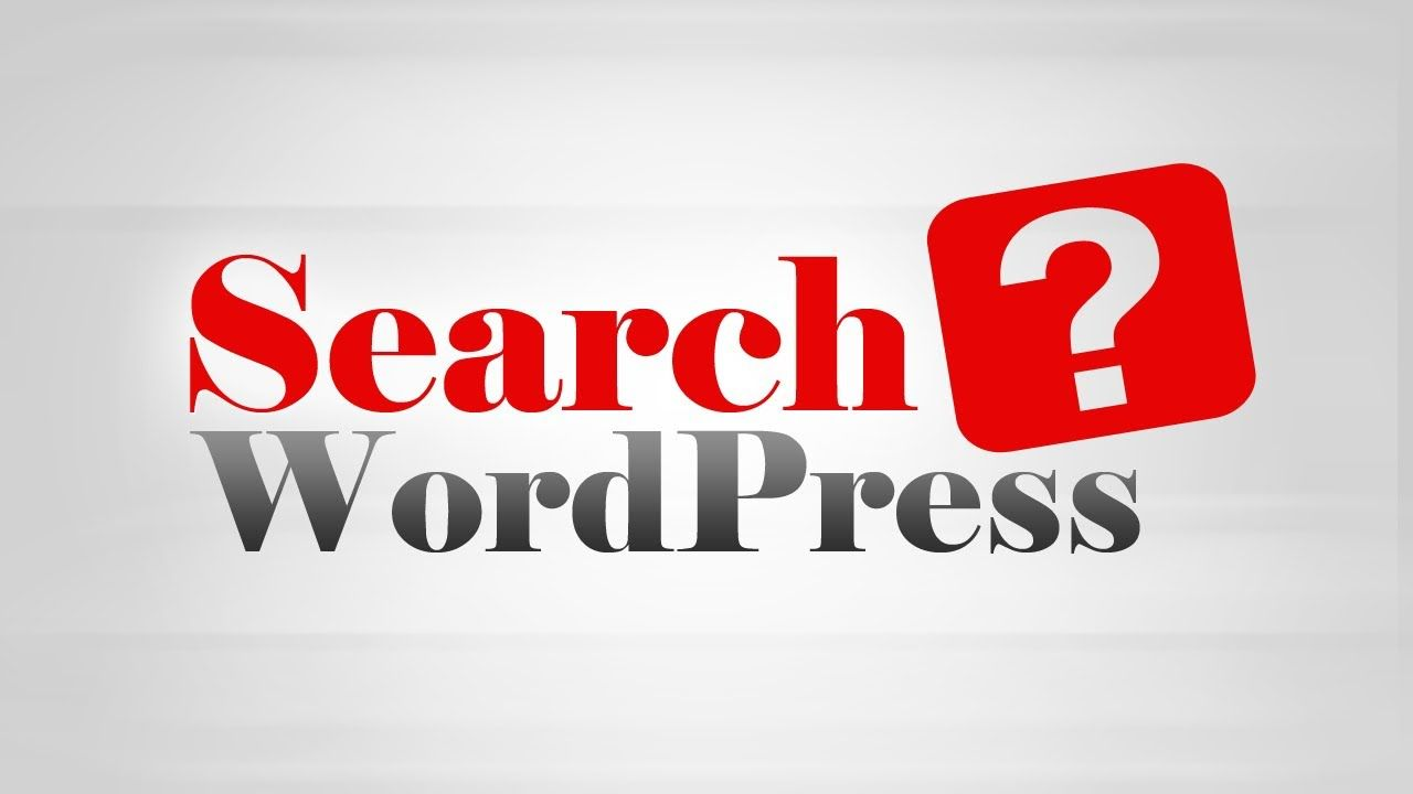 How to Add #Search Box Form on #WordPress website