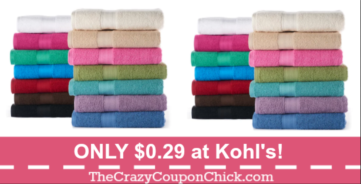 Kohls Bath Towels Interesting Hot* The Big Ones Bath Towels Only $029 At Kohl's Reg$10  The Review