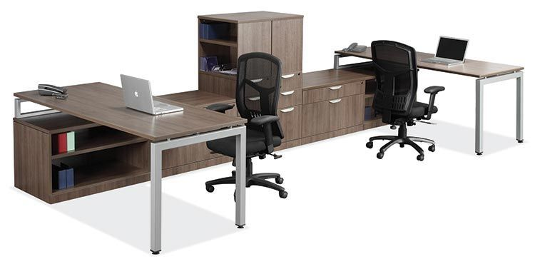 400 Series 2 Person Workstation With Storage By Bush Business