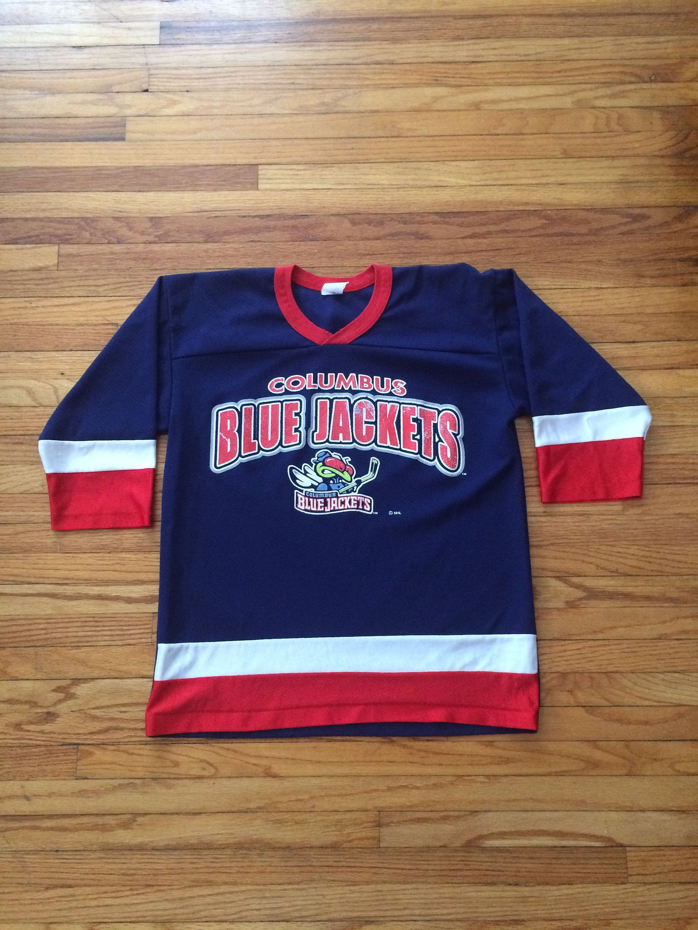 Vintage Columbus Blue Jackets Nhl Hockey Jersey 90 S By Vintagevanshop On Etsy Columbus Blue Jackets Blue Jacket Nhl Hockey Jerseys