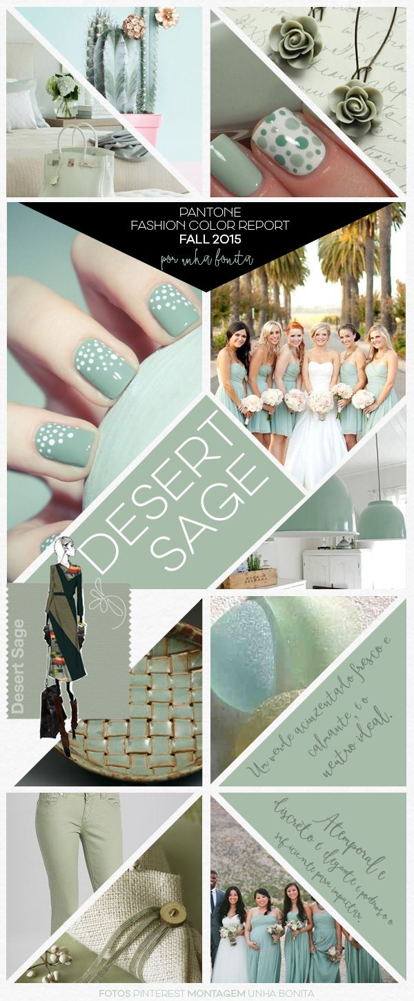 Pantone Fashion Color Report Fall 2015 Desert Sage | Moda 2016 ...