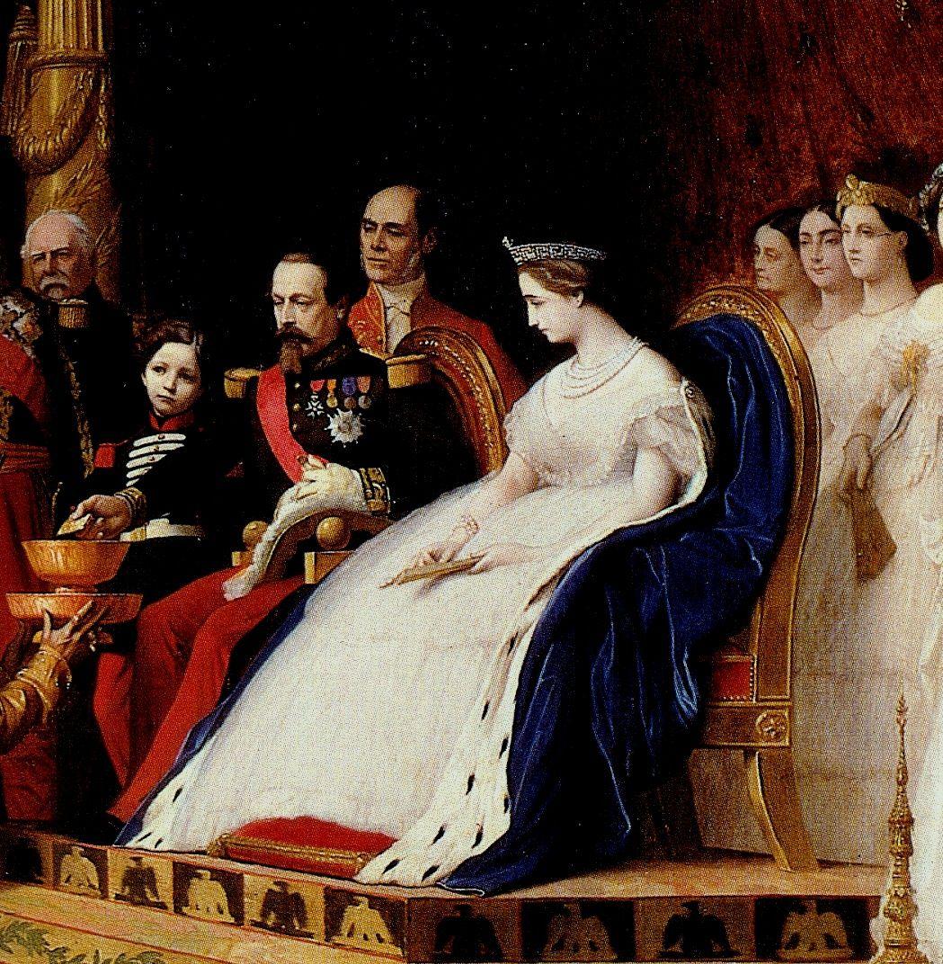 Tras la caída del Segundo Imperio Francés, la familia se exilió a Inglaterra. A la muerte del emperador en 1873, Eugenia se retiró a una villa en Biarritz en la que vivió alejada de los asuntos de la política francesa