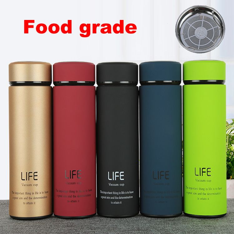 23cbd735d70 500 ml Thermos tea mug with Strainer Thermo mug Thermos Coffee cup  Stainless steel thermal bottle Termos Thermocup Vacuum flask-in Vacuum  Flasks & Thermoses ...