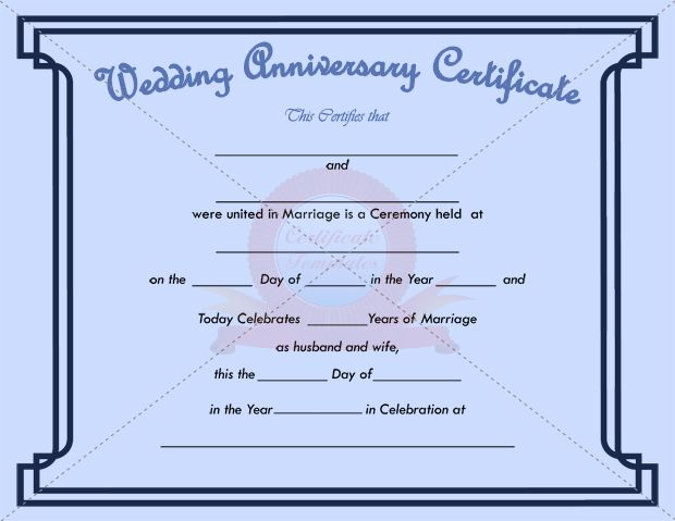 Wedding Certificate Template Doc Format Free Marriage Certificate