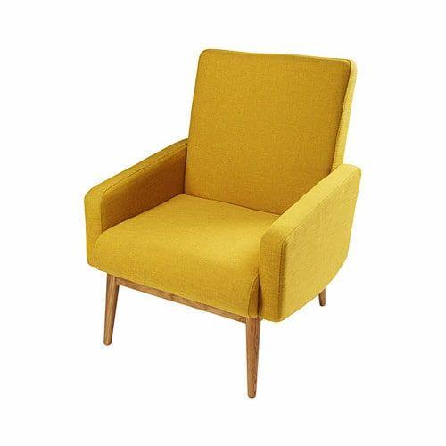 Kelton - Vintage yellow fabric armchair | Lounge | Pinterest | Tissu ...