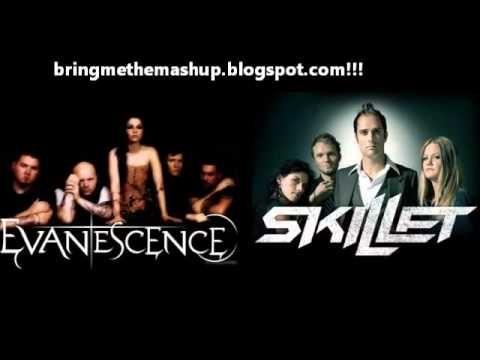 Skillet vs. Evanescence - I'm Not Awake and Alive Bring Me To Life (Mashup)  | Bring me to life, Evanescence, Awake and alive