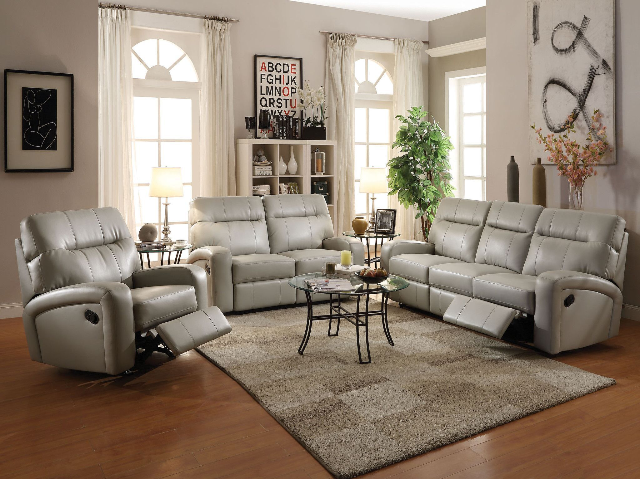Acme Furniture Nailah 3 Piece Living Room Set in Chocolate