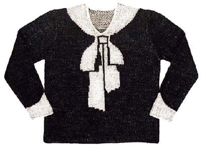Free Pattern: The Schiaparelli Bowknot Sweater