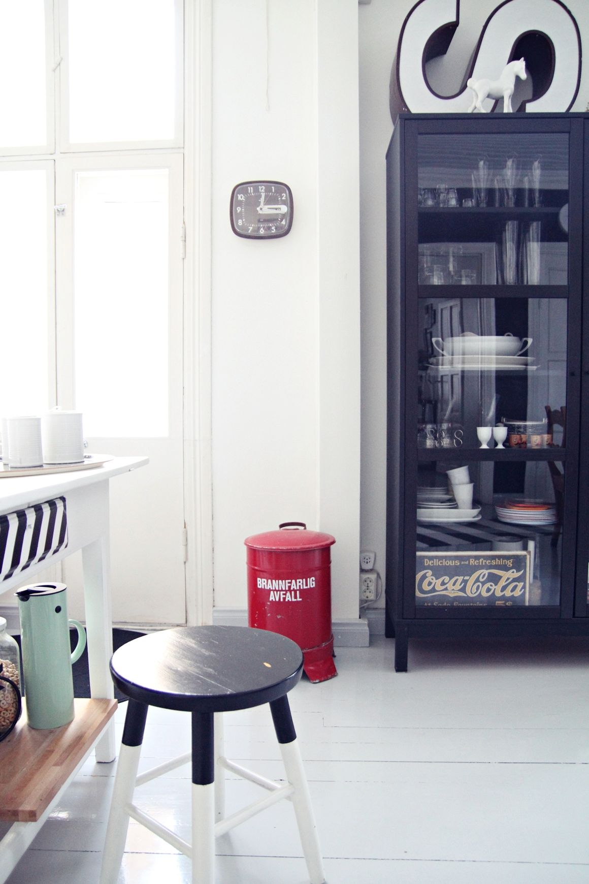 Via My Second Hand Life | Kitchen | Black and White | Dip Dyed | Letter S