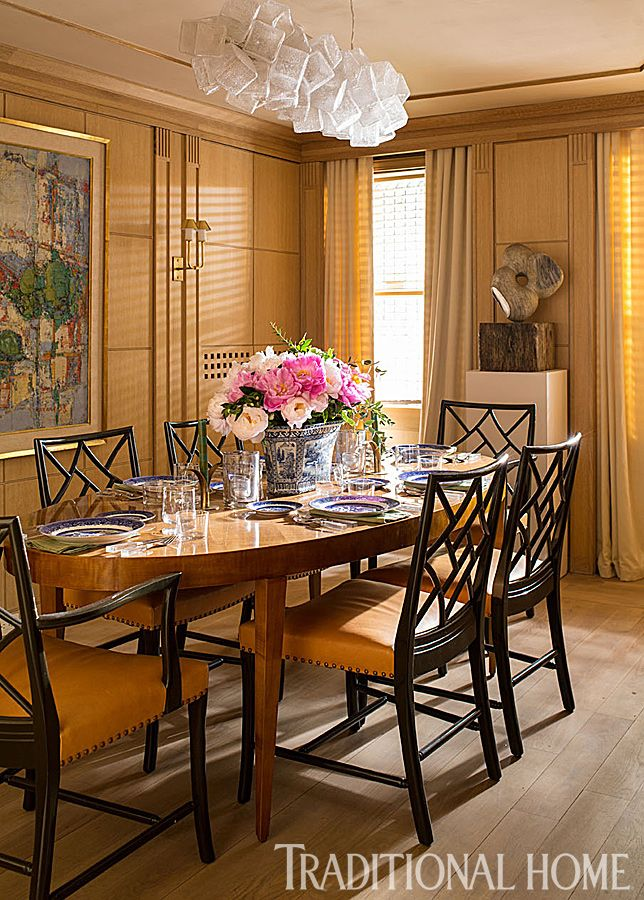 Chippendale Dining Room Custom New York Brownstone  Design Chic  Great Chippendale Chairs Int Review