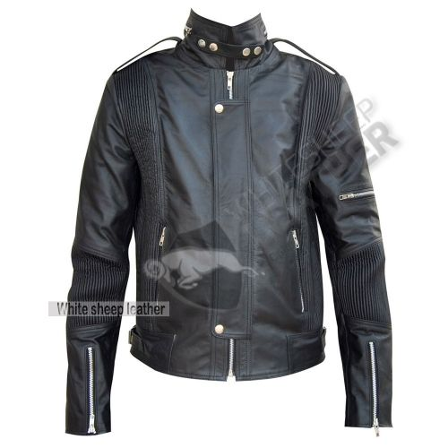 3d2ccdcf2 Men's Designer Daft Punk Studded Leather Jacket | Biker Leather ...