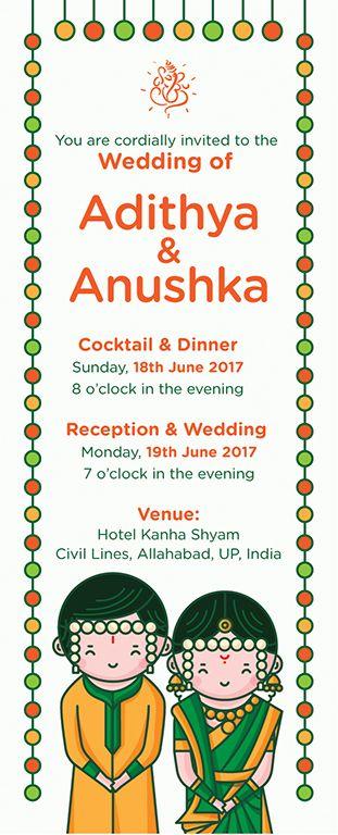 Marathi Maharashtrian Wedding Invitation Ilration Designed By Scd Balaji Indian Ilrator