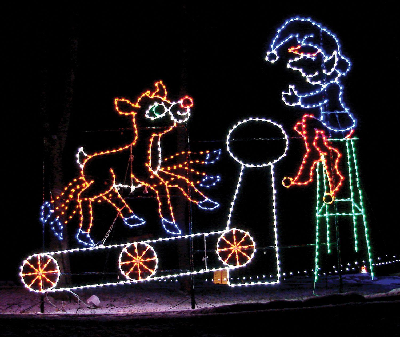 Santa Claus Land of Lights Open Nightly Lake rudolph