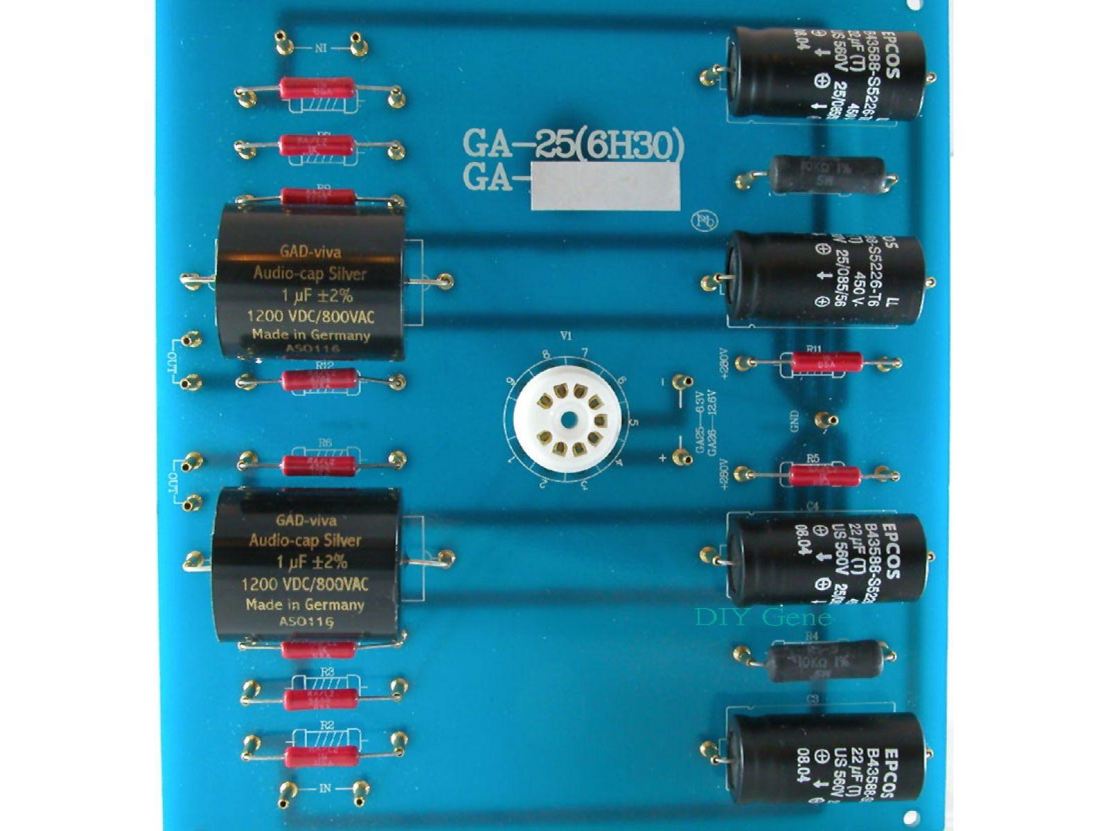 Hi End Audio Diy Tube Pre Amplifier Kit6h30 Ga 25 Speakers Mosfet Otl 100w By K1058j162