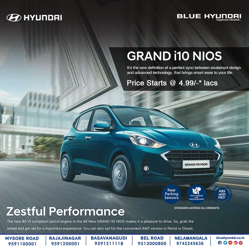 Young Lively The All New Grand I10 Nios At Blue Hyundai