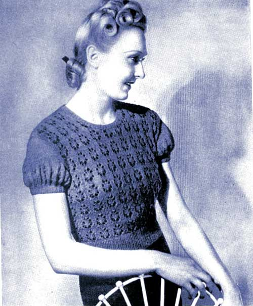 Free pattern: vintage lace knit sweater