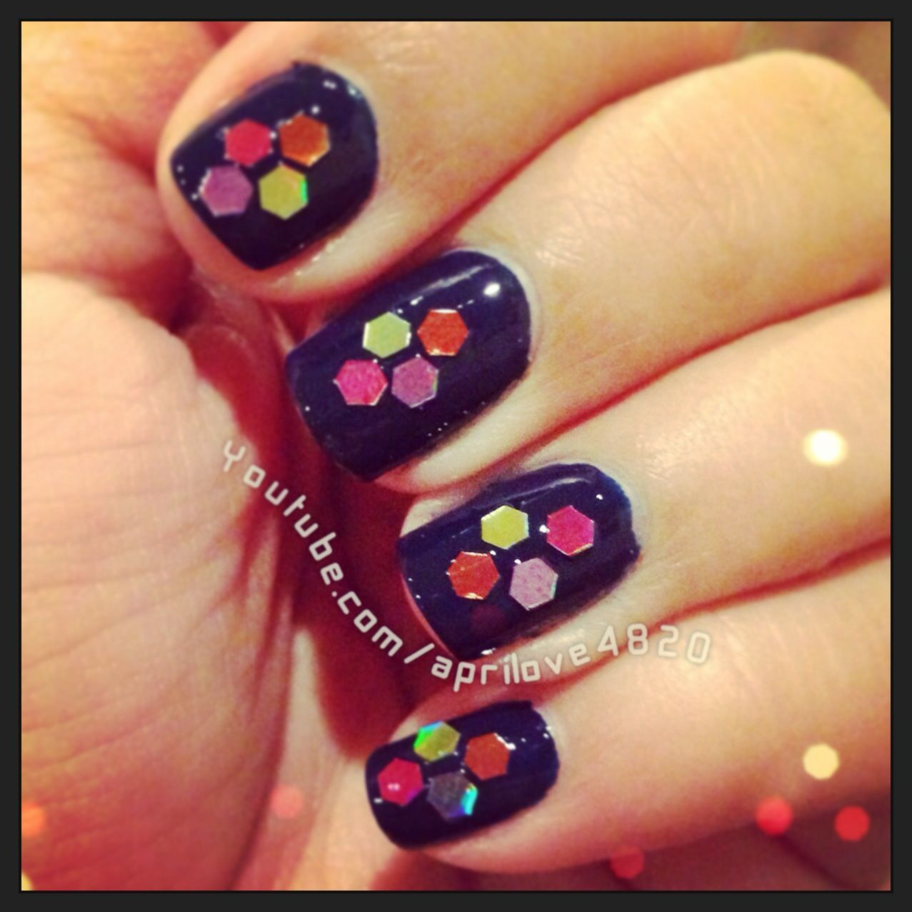 Nails For fall 2013 Using hexagonal glitter as nail Art Deco by ...