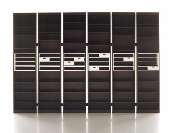 The Rialto modular shelving system. 1970s. Scarpa (original for Scarpa's home re-designed 1974 by Gavina)