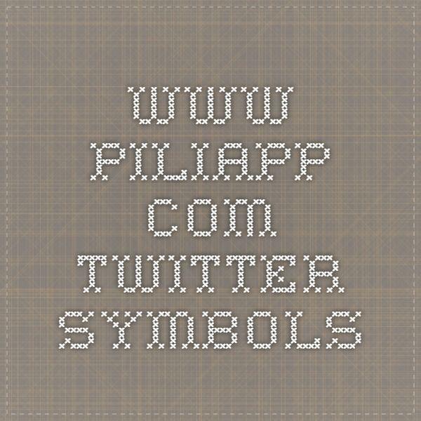 Piliapp Twitter Symbols Technical Computery Stuff