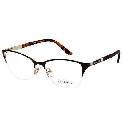 Oculos De Grau Versace Metal Marrom Ve12181344 Oculos De Grau
