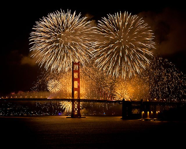 Golden Gate Bridge 75th Anniversary Fireworks show