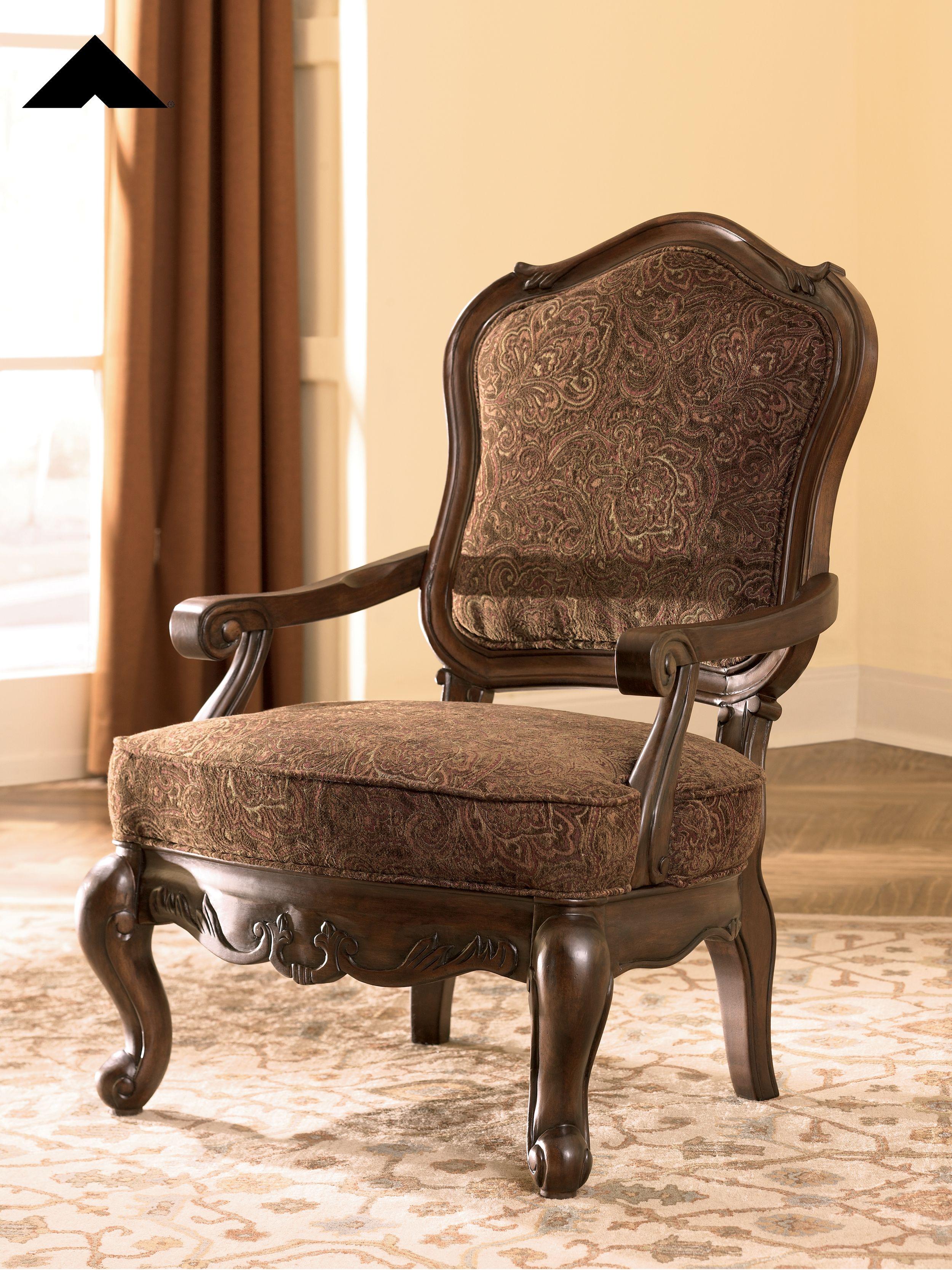 North Shore Dark Brown Accent Chair By Ashley Furniture Ashleyfurnitre Homedecor Livingroom Upholstered Accent Chairs Accent Chairs Living Room Leather