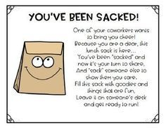 Staff Morale Booster - You've Been Sacked #employeeappreciationideas