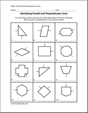 Image result for parallel and perpendicular lines activity   4th ...