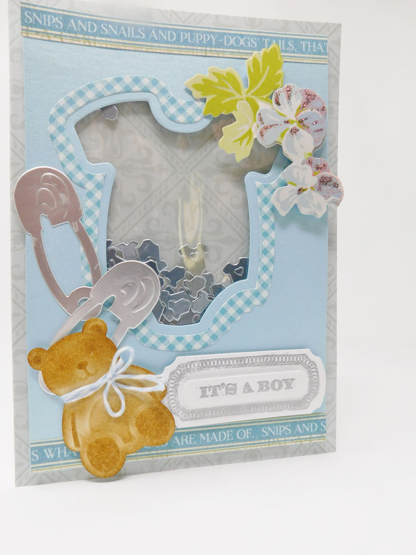New Baby Boy Card Handmade Greeting Card For New Baby Boy Blue