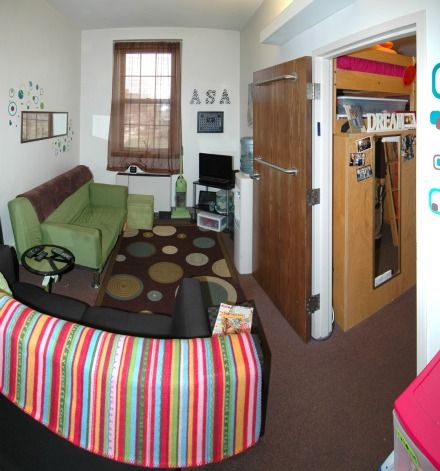Typical College Apartment a typical room in voorhees hall   dorm room decor   pinterest